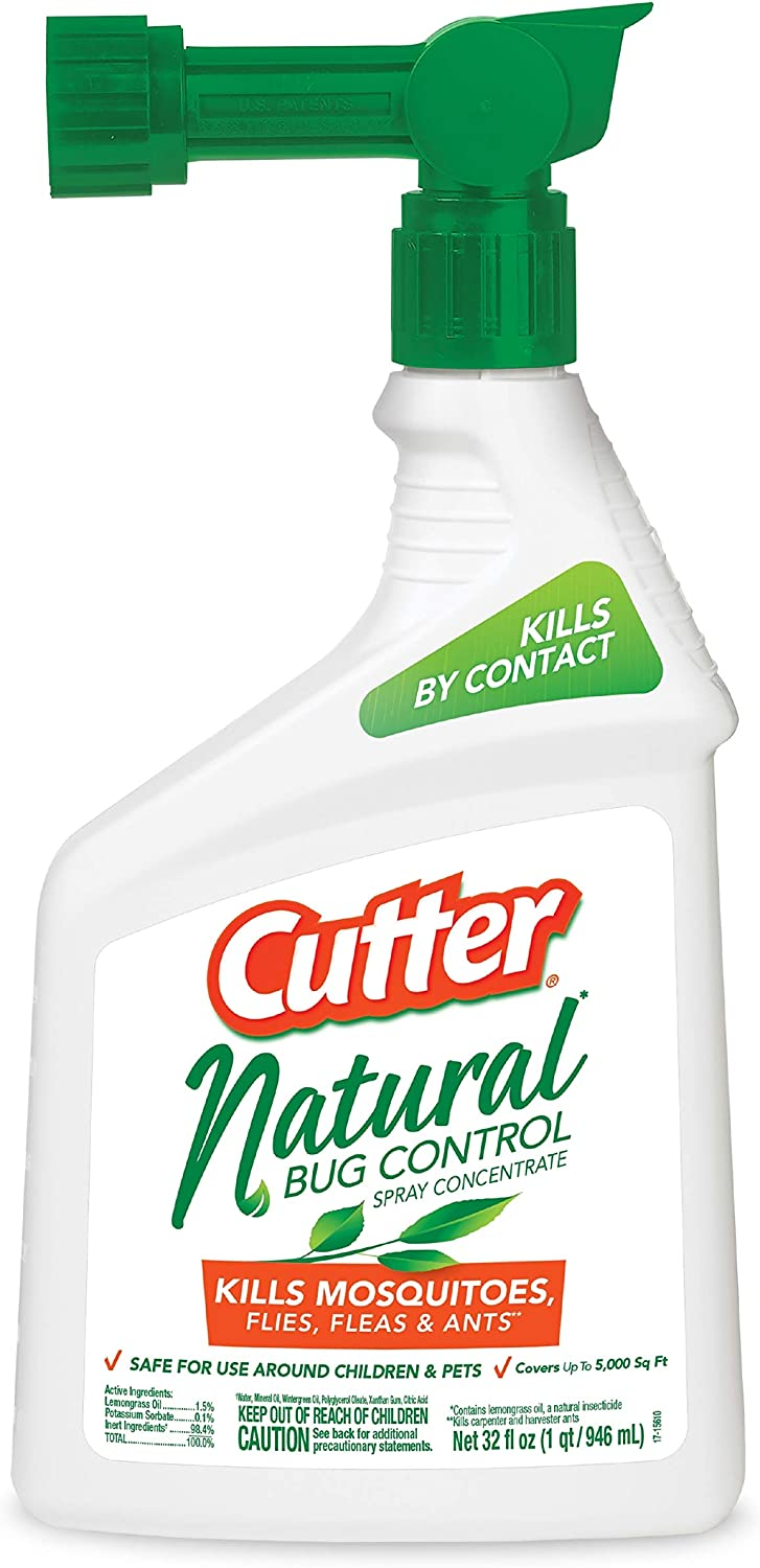 Cutter HG-95962 Natural Bug Control Spray Concentrate, 32 fl oz, 6-Pack 712usp3CnCL