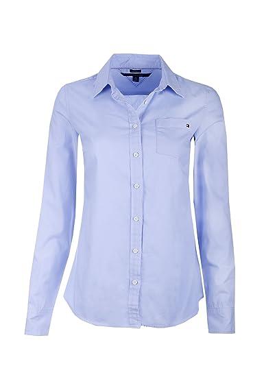 df879a01b Tommy Hilfiger Womens Long Sleeve Poplin Shirt at Amazon Women's Clothing  store: