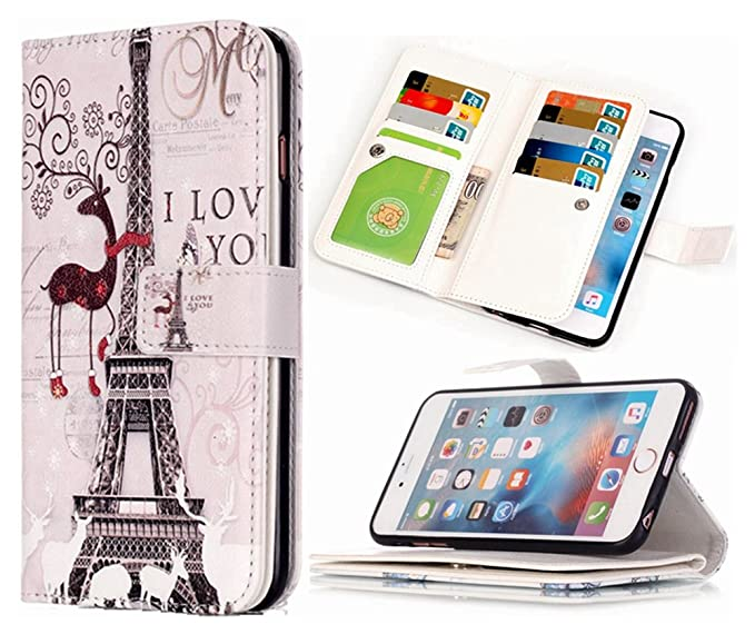 reputable site 92f7a fd28c iPhone 5S Wallet Case HYSJY iPhone SE Wallet Purse For Women Men with card  Slots Stand Feature Card Holer Folio wallet case cover Fit iPhone ...