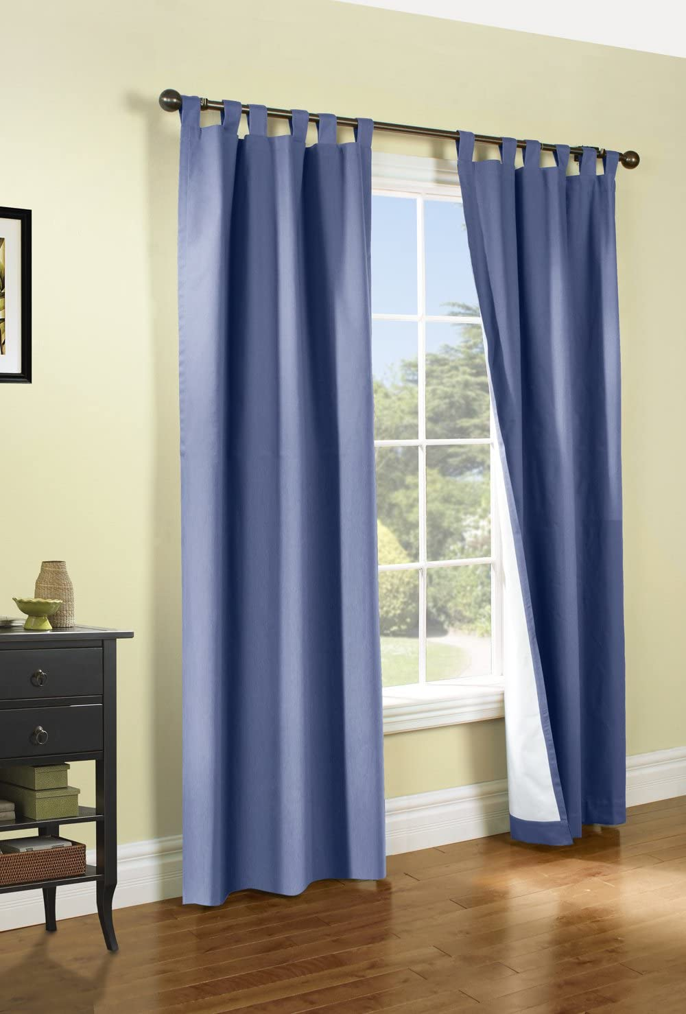 Thermalogic Weathermate Tab Top Insulated Energy Efficient Drapery Pair, Blue 160 X84