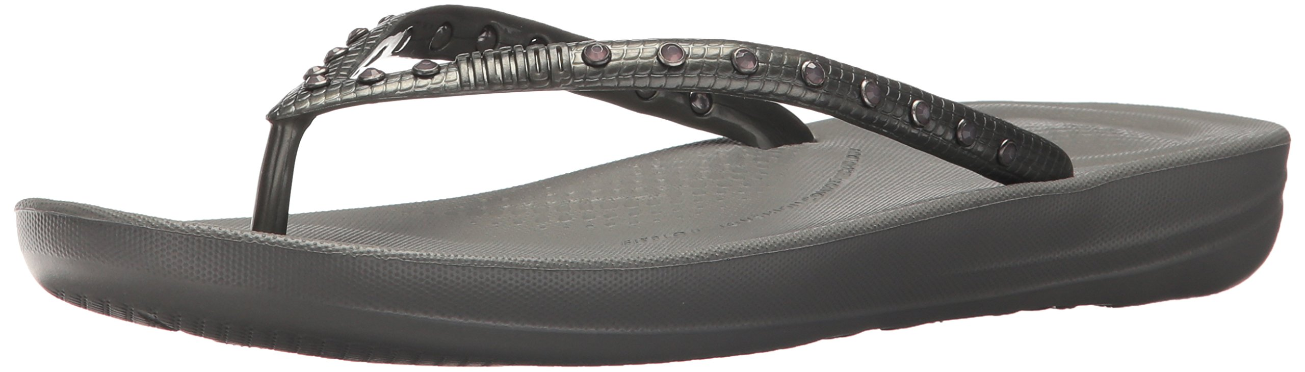 e9a74c7fdfb5f Galleon - FitFlop Women s IQUSHION Ergonomic FLIP Flops-Crystal Slide  Sandal