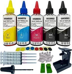 COCADEEX 500ml Ink Refill Kit Compatible with Hp Ink Cartridges 67XL 65XL 64XL 63XL 62XL 67 65 64 63 62