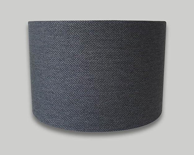 Dark grey herringbone drum lampshade 20cm 25cm 30cm 35cm 40cm 50cm dark grey herringbone drum lampshade 20cm 25cm 30cm 35cm 40cm 50cm 60cm 70cm lamp shade lightshade aloadofball Choice Image