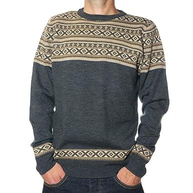 Mens Jumper Fair Isle Threadbare IMS 066 Pullover Knitted Sweater ...