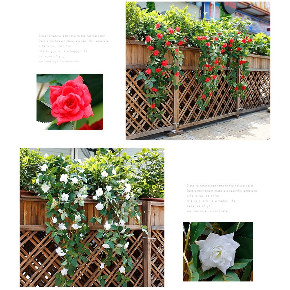 Plantas Artificiales 1 Unids Tela De Seda Artificial Rose 29.53 ...
