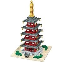 Nanoblock 5 Story Pagoda Building Set (1350 Piece)