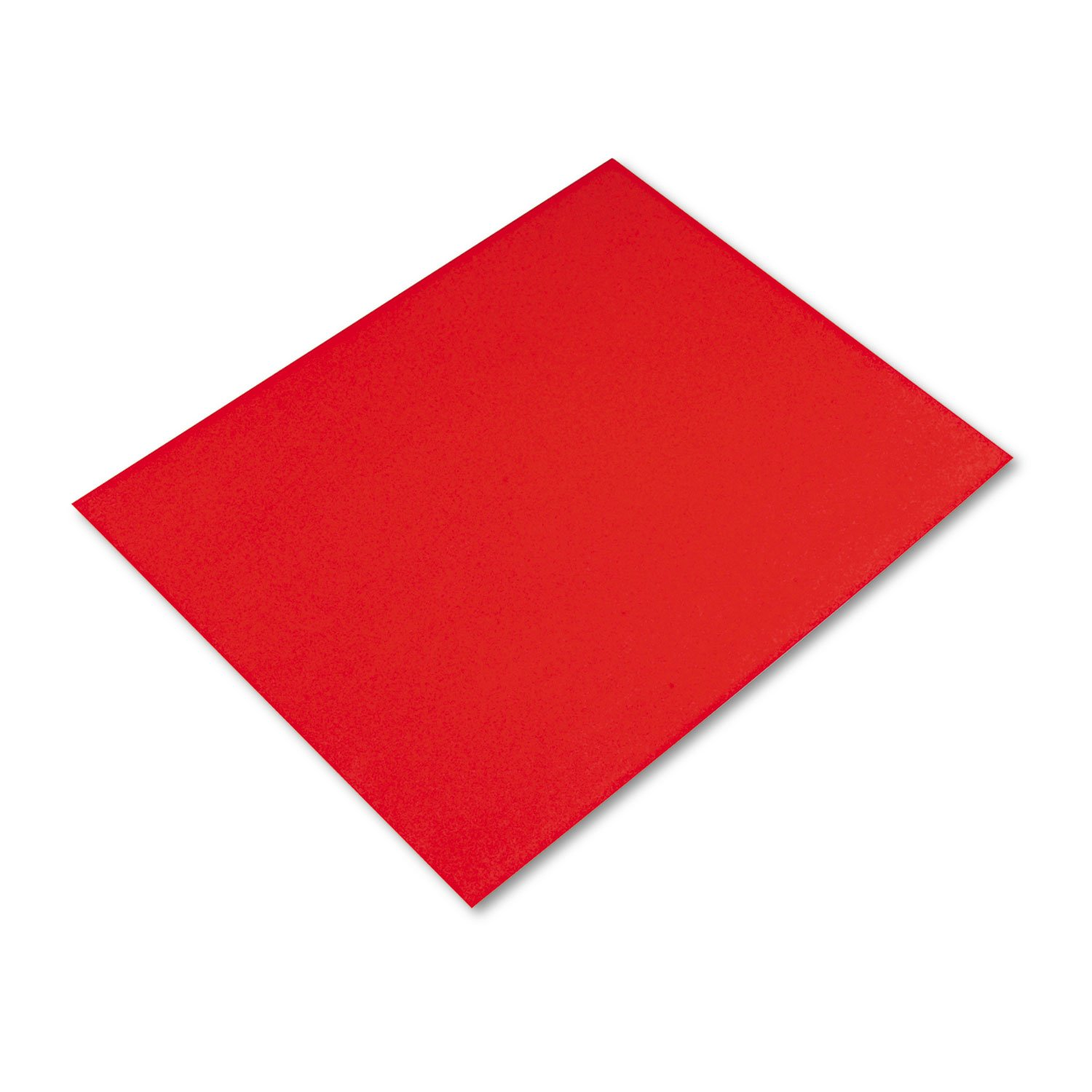 Pacon PAC54751 4-Ply Railroad Board, Red, 22'' x 28'', 25 Sheets