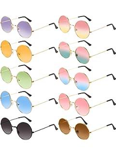 Amazon.com: 28 pares de gafas de sol hippie estilo 60s ...