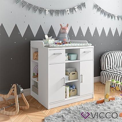 Vicco - Cambiador Anna para bebé con mueble, cambiador extraíble, también como Aparador de pie: Amazon.es: Bebé