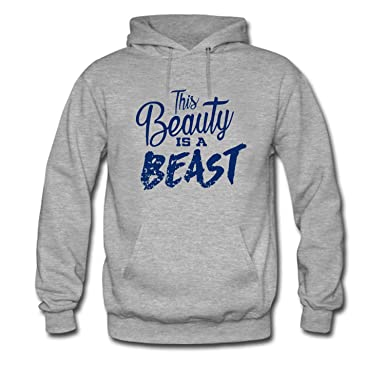 Amazoncom Kuyue Mens This Beauty Is A Beast Hoodie Clothing