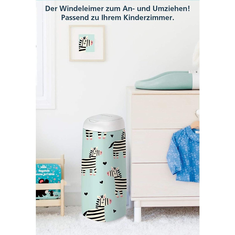 Angelcare Windeleimer Dress-Up XL 66 cm H/öhe inklusive 4 Nachf/üllkassetten 2380 3x 2335