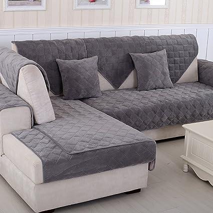 Amazon.com: BATSDCB Velvet Warm Sofa Covers, Solid Color ...