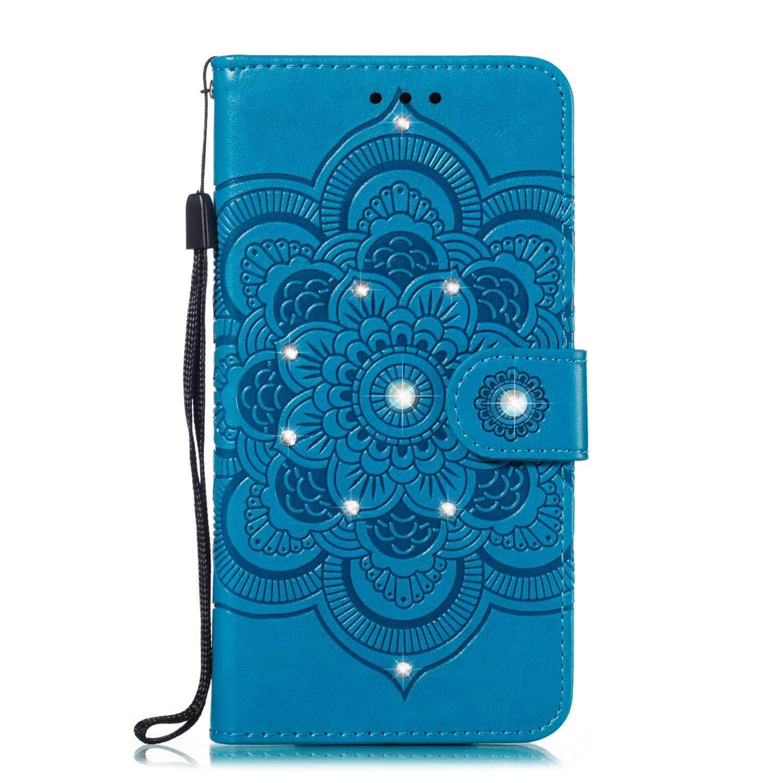 SONWO Coque Galaxy A2 Core, Etui Housse en Cuir PU de Haute qualité avec Fente pour Cartes et Fentes de la Carte Portefeuill Etui pour Samsung Galaxy A2 Core, Bleu