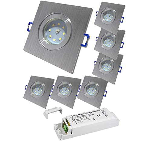 3 x 5W SMD LM Farbe Wei/ß IP44 LED Deckenleuchten Aqua Rund 3000K Einbauspots LED Bad Einbaustrahler 12V inkl