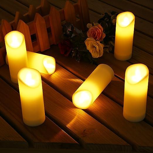 6 velas sin llama de Icoco, velas electrónicas, velas marfil ...