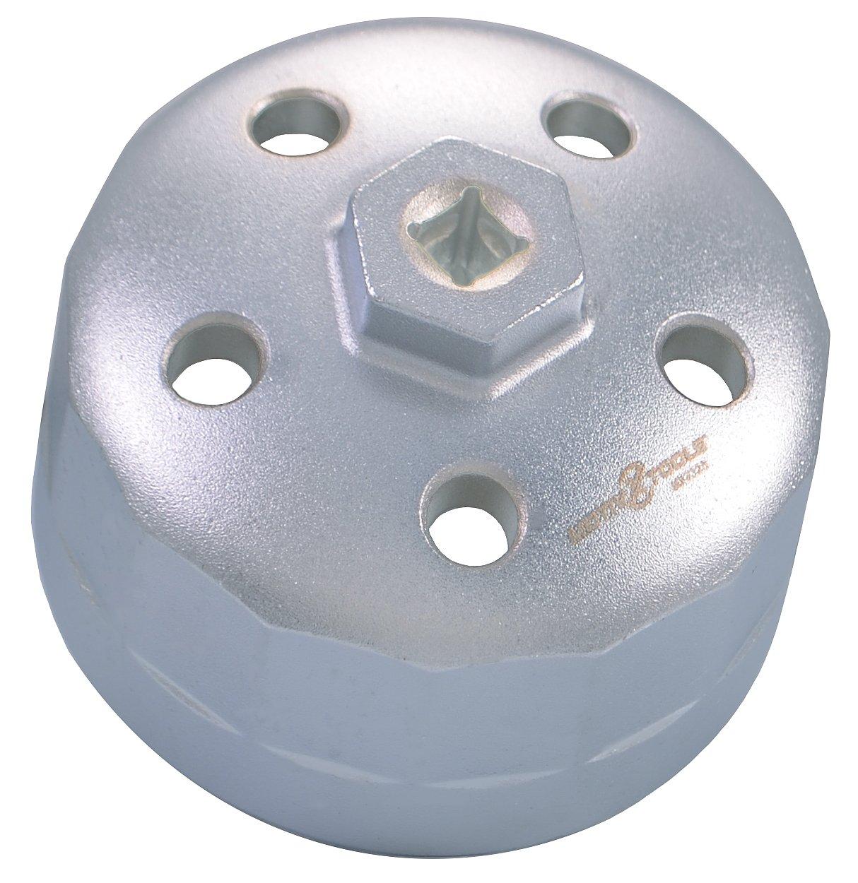 Motivx Tools 90mm 15 Flute Oil Filter Wrench for Land Rover & Jaguar - Fits 3.0L & 5.0L Gas Engines