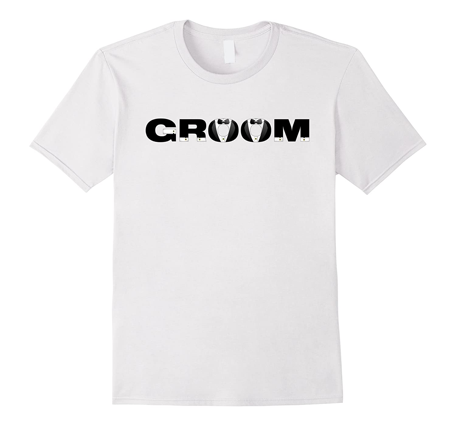 Groom Wedding Bachelor Party Tuxedo T-Shirt-Vaci