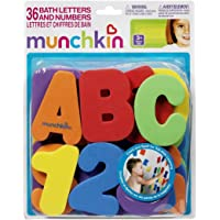 (36 Count, colors as shown) - Munchkin Bath Letters and Numbers