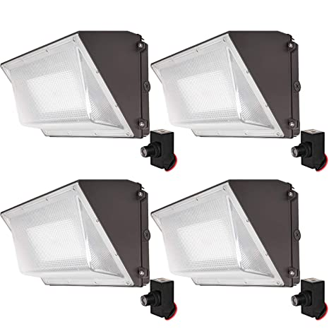 Hykolity High-Output LED Wall Pack with Photocell,60W 7800lm [250W on