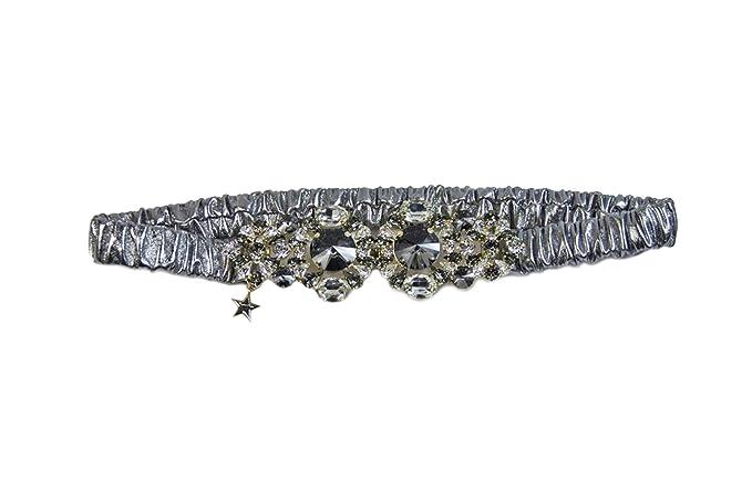 super qualità nuovo design comprare popolare Cintura gioiello in pelle elasticizzata (argento): Amazon.it ...