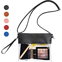 Vorspack Clear Crossbody Purse Stadium Approved PU Leather Clear Concert Bag