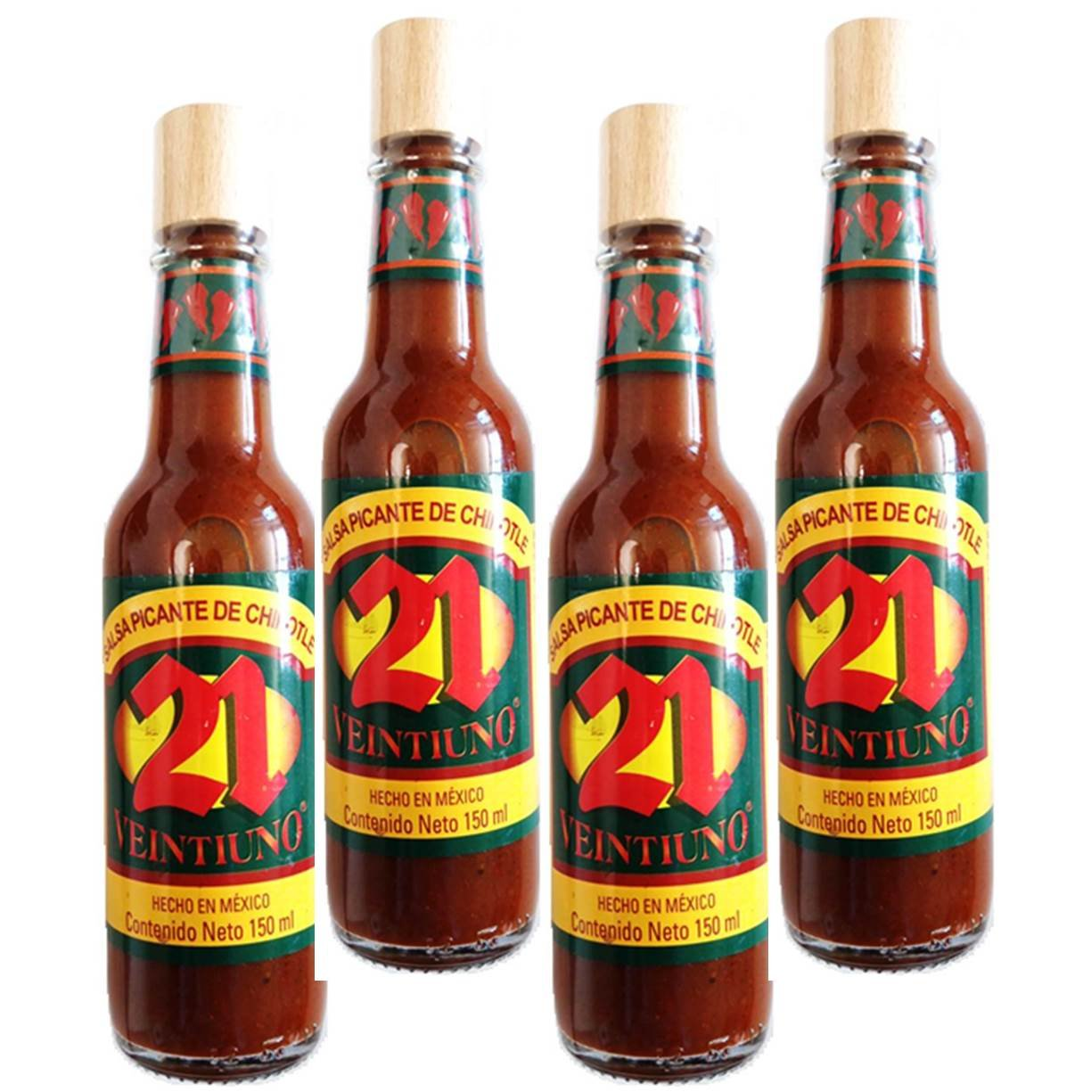 Amazon.com : Salsa 21 - Salsa Picante Mexicana (Mexican Hot Sauce) (Pack of 6) (Chipotle) : Grocery & Gourmet Food