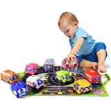Soft Car Toy Set with Play Mat for 1 Year Old Baby,Toddlers,Boys and Girls ( 9 Vehicle and a Play mat/Storage Bag) | Baby Toy
