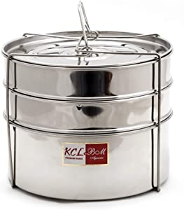 KCL Stainless Steel Cooker Separator for 10 Litre (3 Containers with Lifter)