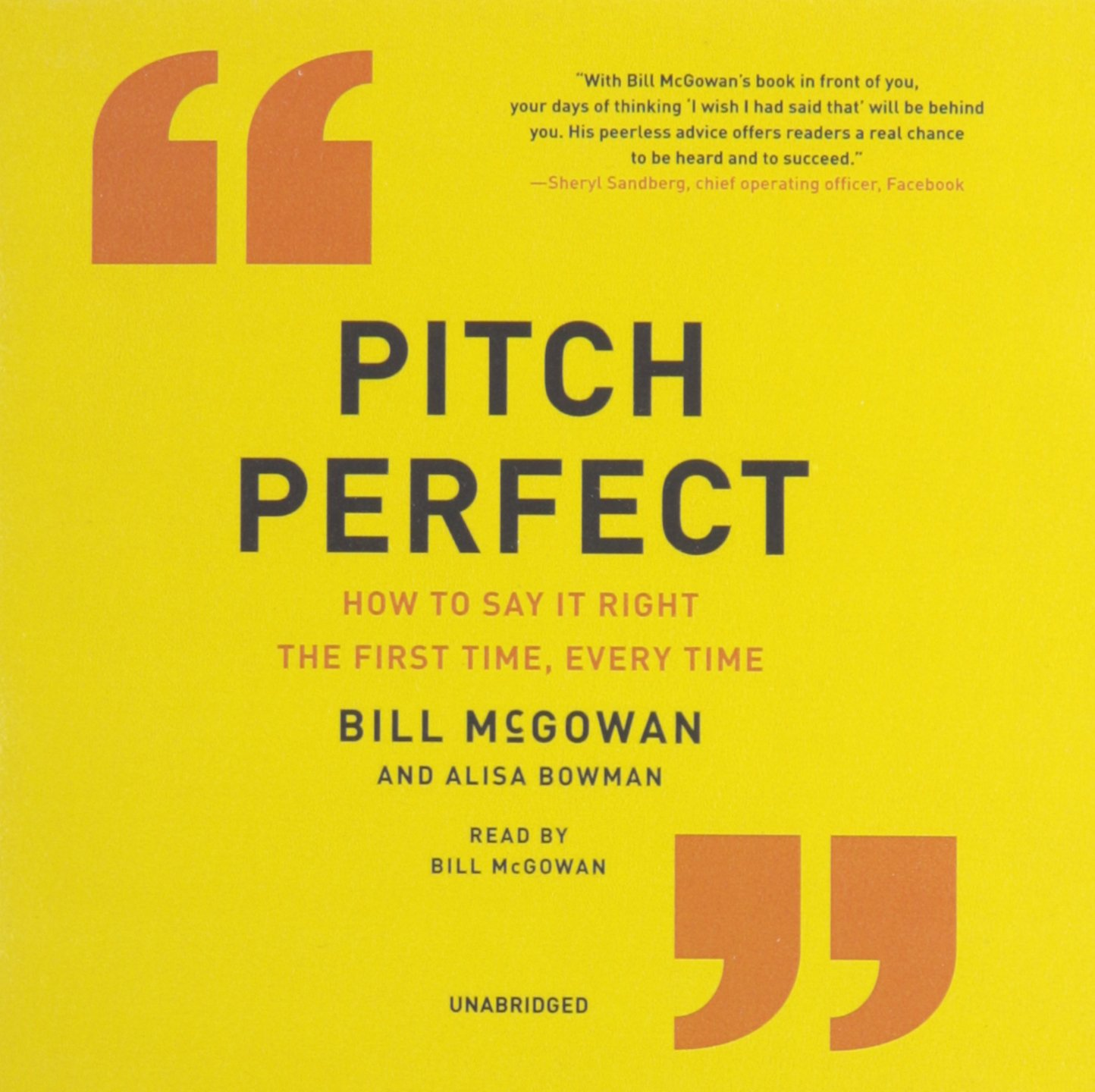 Pitch Perfect: How to Say It Right the First Time, Every Time; Library Edition by HarperCollins