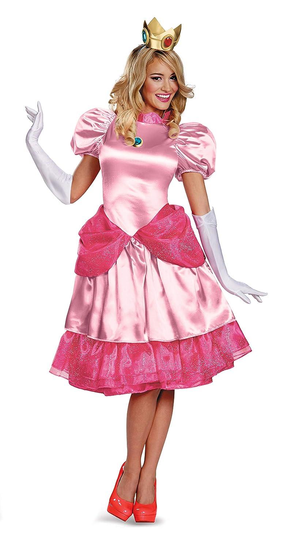 Disguise Women S Nintendo Super Mario Bros Princess Peach Deluxe Costume