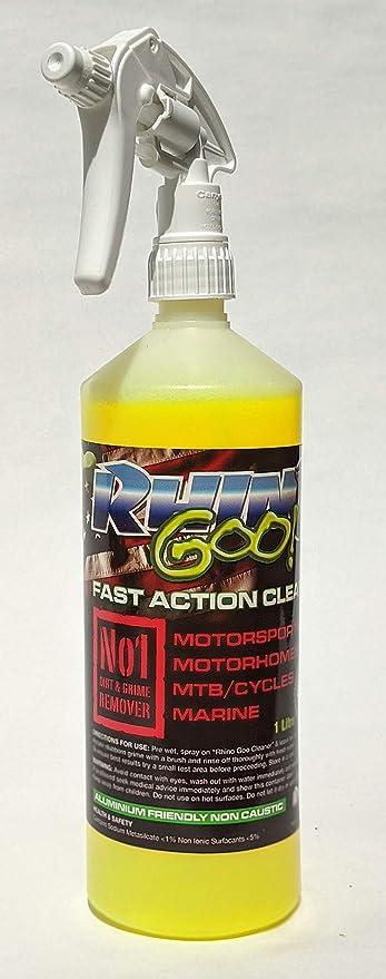Rhino Goo! Fast Action Cleaner 1L - Detergente Bici e sgrassatore per Mountain Bike, Bici da Strada e motocicli: Amazon.es: Deportes y aire libre