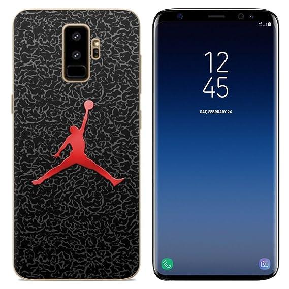 3a204ff55bf89 Ailiber Galaxy S9+ Plus Slim Case, Basketball Sport Design MJ Slim Fit  Anti-Scratch Anti-Finger Print Lightweight Soft TPU Protector Cover for  Samsung ...
