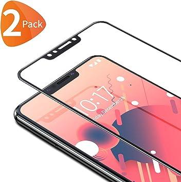 Bewahly Cristal Templado para Xiaomi Pocophone F1 [2 Piezas], Ultra Fino Completa Cobertura Protector Pantalla, 9H Dureza Alta Definicion Vidrio Templado Sin Burbujas para Xiaomi Pocophone F1 (Negro): Amazon.es: Electrónica