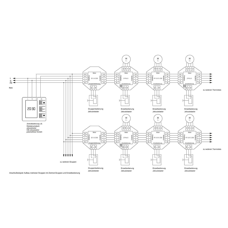 NOBILY * /Relais de s/éparation avec possibilit/é de raccordement pour une centrale Le pouls pour un moteur pour un moteur de relais de coupure Z speichert une commande de conduite pour 120/secondes selbsthalte Temps/