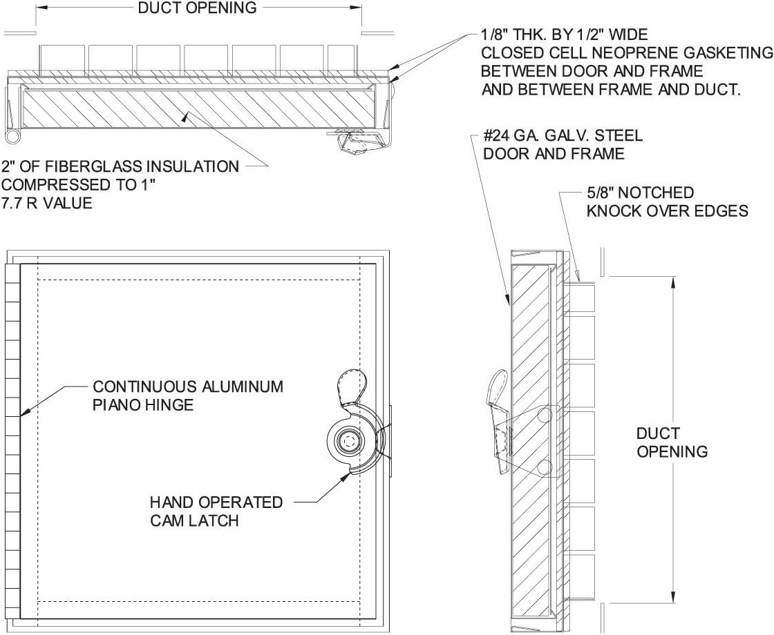 Acudor HD-5070 Duct Access Door 24 x 24 (100 Pack) 712v1ZxAiOLSL1138_