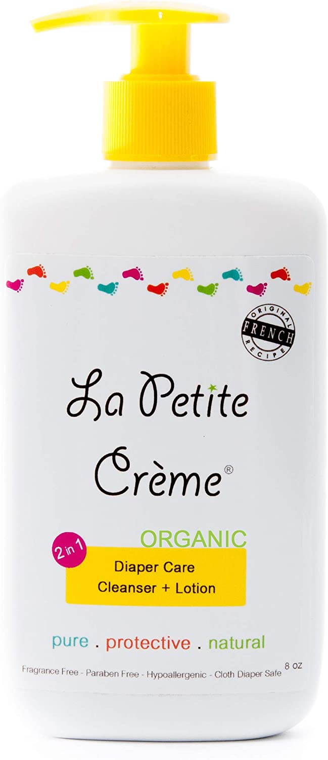 La Petite Creme - Organic French Diapering Lotion **Alternative to Baby Wipes** Liniment (8 Oz) - USDA Certified Organic: Health & Personal Care