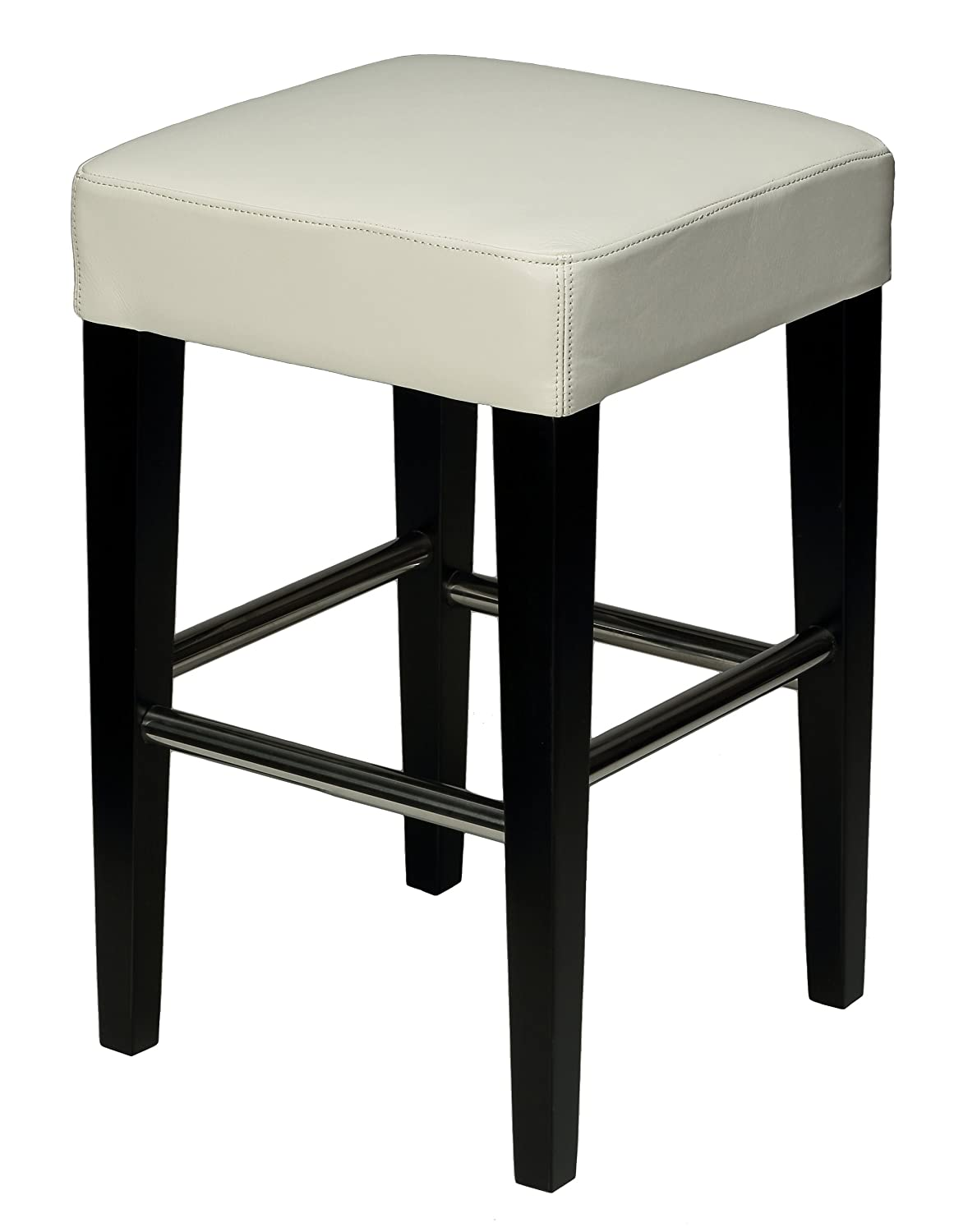 Amazoncom Cortesi Home Aspen White Counter Stool In Genuine