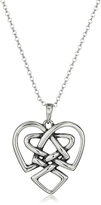 Amazon sterling silver celtic knot heart pendant necklace 18 sterling silver celtic knot heart pendant necklace 18quot aloadofball Images
