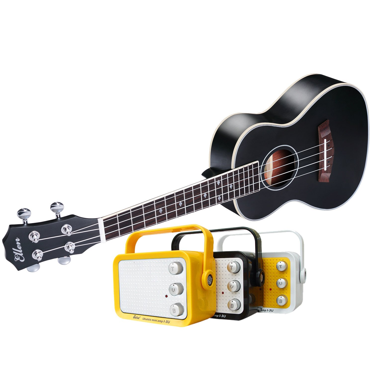 electric concert ukulele with and 23 acoustic