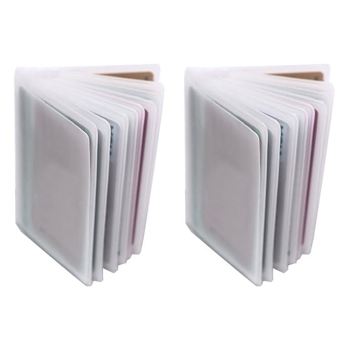 Amazon.com: Juego de 2 – 10 páginas de plástico tarjeta de ...