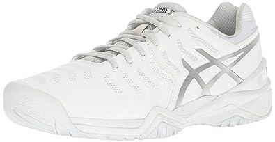 ASICS Men's Gel-Resolution 7 Tennis Shoe, White/Silver, 6 M US