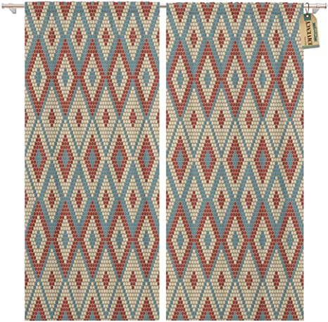Amazon Com Golee Window Curtain African Beadwork Themes Abstract Light Colors South Africa Motifs Home Decor Pocket Drapes 2 Panels Curtain 104 X 96 Inches Home Kitchen