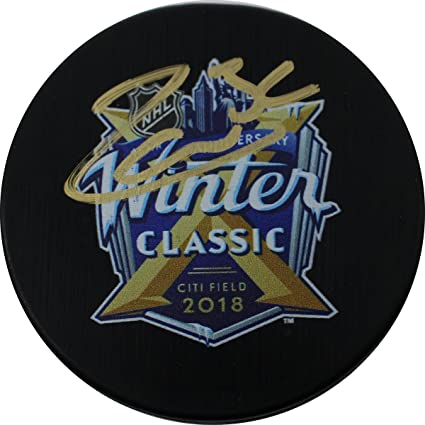 low priced d2dcb ab22b Mats Zuccarello Signed 2018 NHL Winter Classic Logo Puck