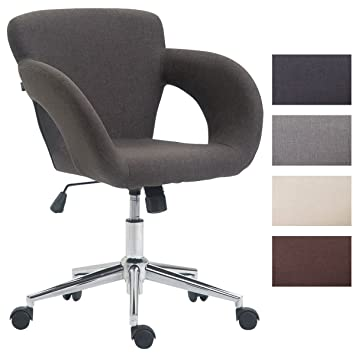CLP Chaise De Bureau Edison Tissu I Fauteuil Travail Avec Accoudoirs Et Hauteur Reglable