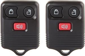 ECCPP Replacement fit for 2X 3 Button Keyless Entry Remote Transmitter Control Key Fob Clicker Ford Mazda Lincoln Mercury Series CWTWB1U212 CWTWB1U331 CWTWB1U345 GQ43VT11T