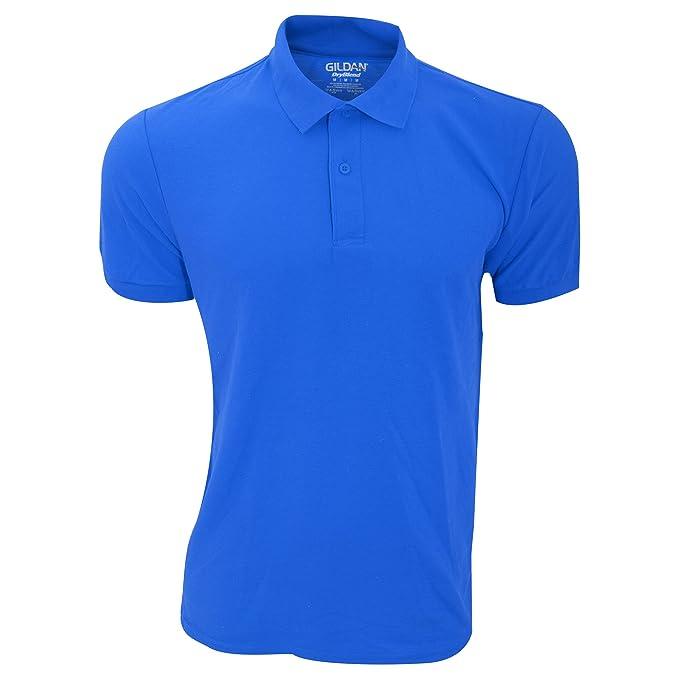 Gildan Herren DryBlend Sport Double Pique Polo Shirt (3XL) (Königsblau)