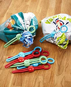 Reusable Pull Ties for Food Storage, Kitchen/Bedroom Organization - Set of 10