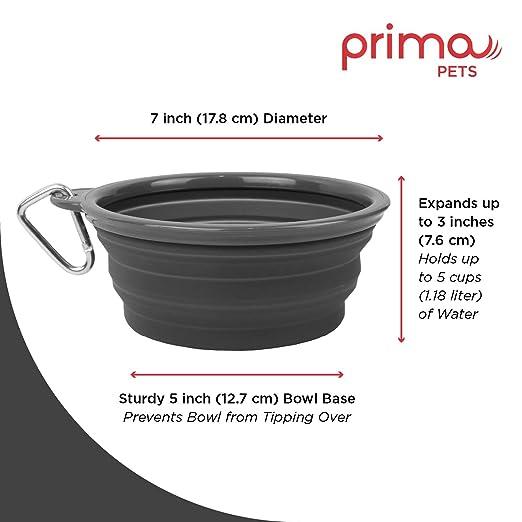 Amazon.com: Prima Pet Plegable Silicona Food & agua ...