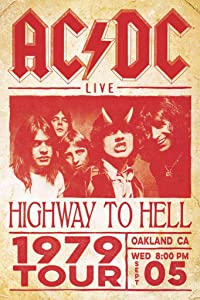 ACDC Highway to Hell 1979 Tour Poster Cool Wall Decor Art Print Poster 24x36