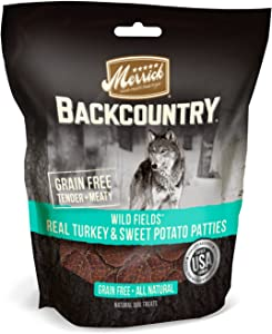 Merrick Backcountry Grain Free All Natural Dog Treats Wild Prarie Real Turkey